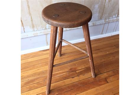 Vintage Wooden Stool by Vintage Wooden Stool Pic