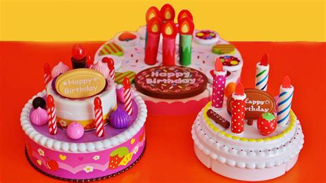 birthday toys birthday cakes velcro cutting building slicing