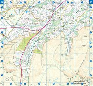 brecon beacons west a z adventure atlas a z maps