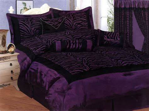 top 28 purple and black comforter set 7 piece queen