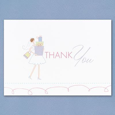 Thank You Card For Bridal Shower Gift - bridal gift shower thank you cards wedding thank you cards