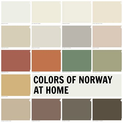 scandinavian color colors of norway at home palette the perfect combination