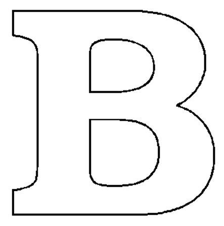letter b template alphabet numbers block patterns