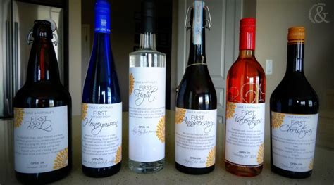 Wedding Gift Year Of Firsts by Unique Wedding Gift Idea A Year Of Firsts In Liquor And