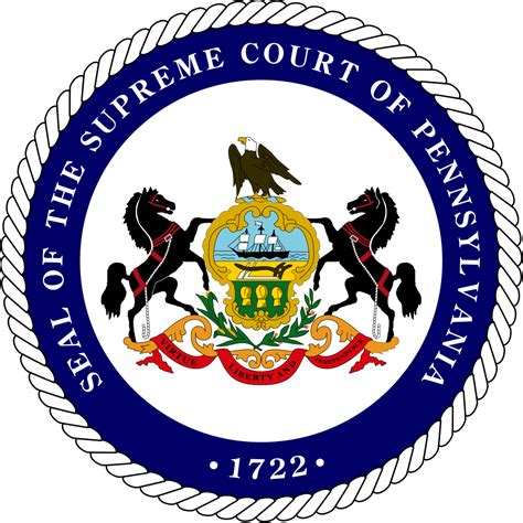 supreme court of pennsylvania file seal of the supreme court of pennsylvania variant 2