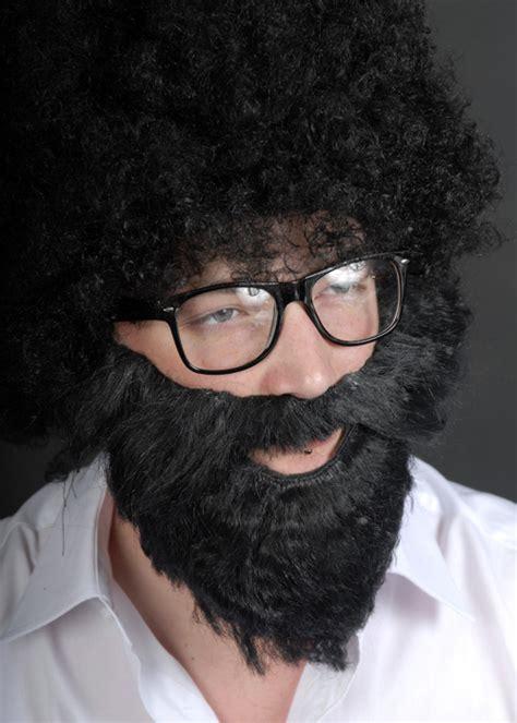 black men fake beards black bushy fancy dress fake beard