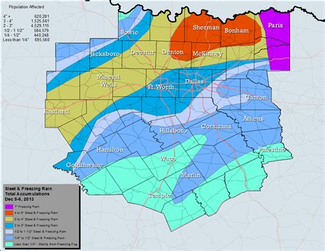 texas snowfall map december 171 2014 171 dfw weather news and