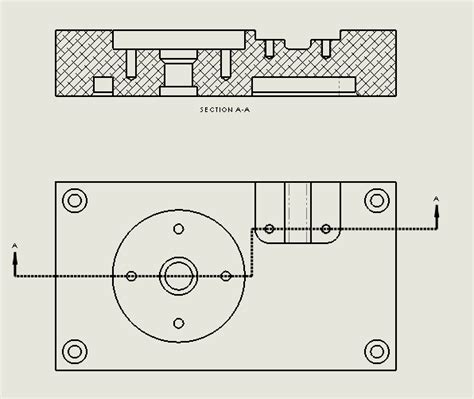 technical drawing section view creating offset section views in solidworks drawings
