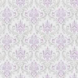 Madison Lavender Gray Damask Home Decorating Fabric