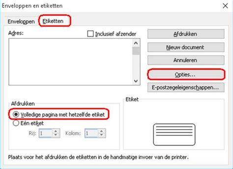 Word Vorlage Etiketten 70x37 Adres Etiketten Maken