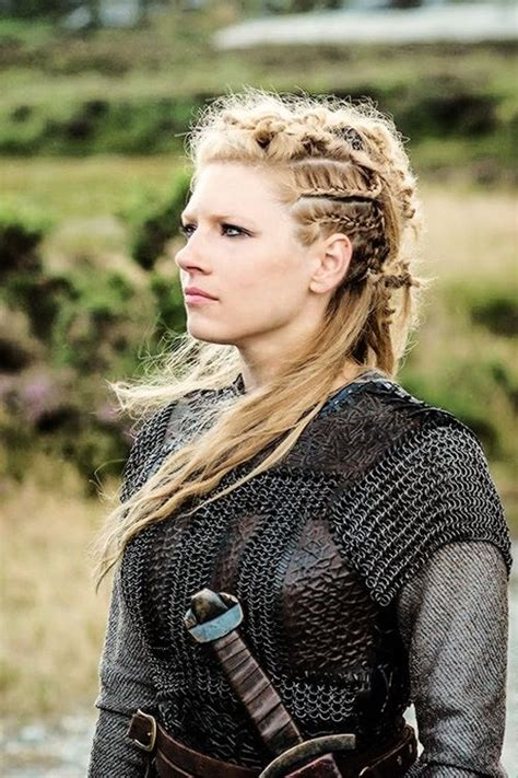 vikings hbo beaided hair lagertha katheryn winnick vikings blonde hair and