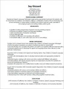 speech pathology resume examples professional speech language pathologist templates to slp resume samples