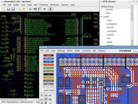 pcb layout software wiki geda wikipedia