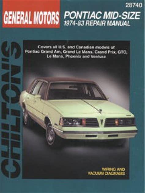service manual chilton repair manual pontiac software 1976 1988 chevette pontiac 1000