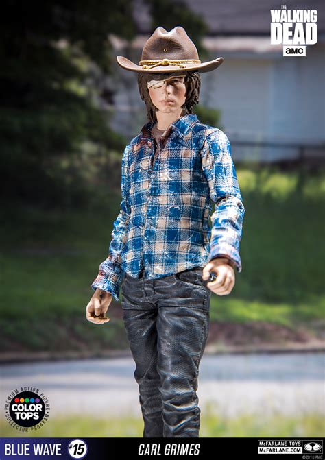 The Walking Dead Carl Grimes Poncho mcfarlane toys unleashes a bloody preview of the walking dead carl figure nerdist