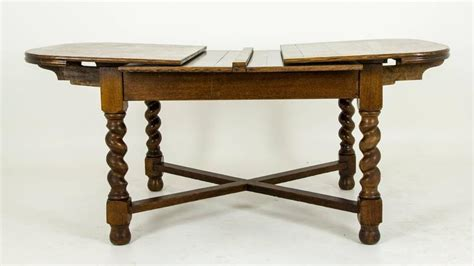 Antique Dining Table With Pull Out Leaves Antique Scottish Tiger Oak Oversized Pull Out Draw Leaf Dining Table At 1stdibs