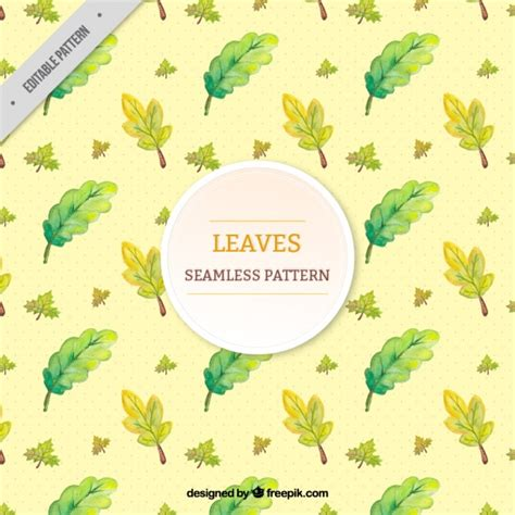 natural pattern ai natural pattern with leaves in green tones vector free