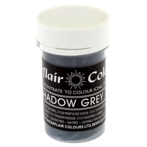 gray food coloring sugarflair shadow grey pastel paste gel icing food