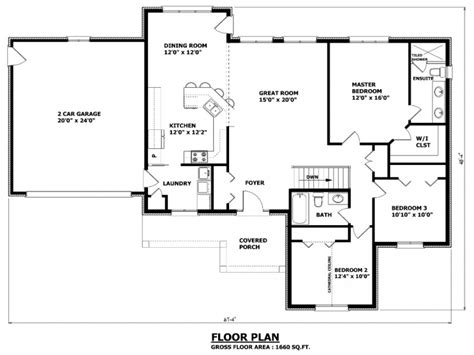 floor plan bungalow simple small house floor plans bungalow house plans