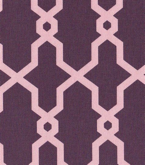 purple home decor fabric 54 home decor value print fabric link geo purple jo ann