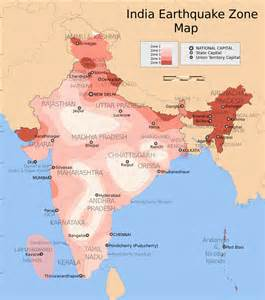 earthquake map earthquake zones of india