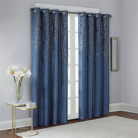 bed bath and beyond scottsdale madison park tara embroidered window curtain panel bed