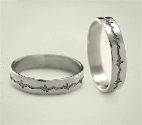 heartbeat engagement rings heartbeat silver wedding bands