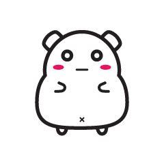 cute hamster expression emoji gifs