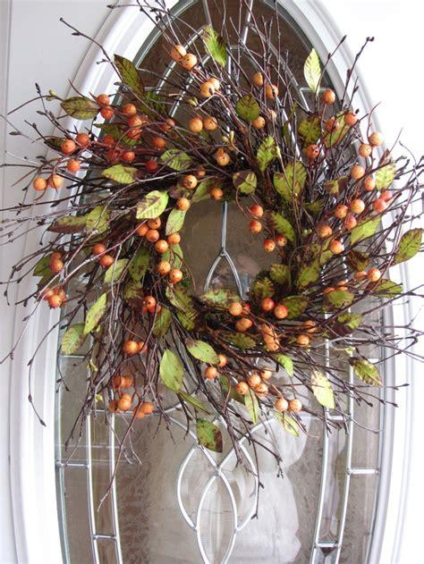Berry Wreaths Front Door Fall Wreath Berry Wreath Autumn Wreath Front Door Wreath 54 95 Via Etsy