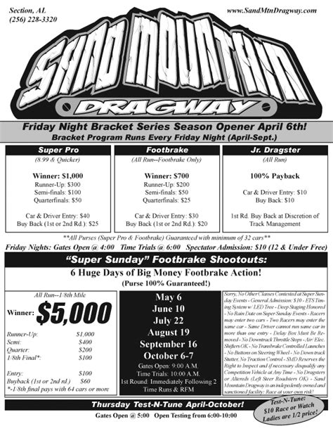 sand mountain dragway section alabama dragraceresults com sportsman drag racing and drag racers
