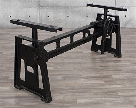 industrial crank table base industrial wood metal industrial cast iron