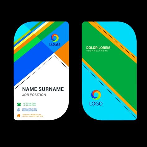 Name Card Template Ai Free by Business Name Card Template With Rounded Abstract Design