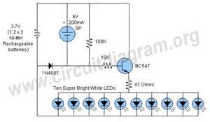 automatic solar garden light circuit diagram