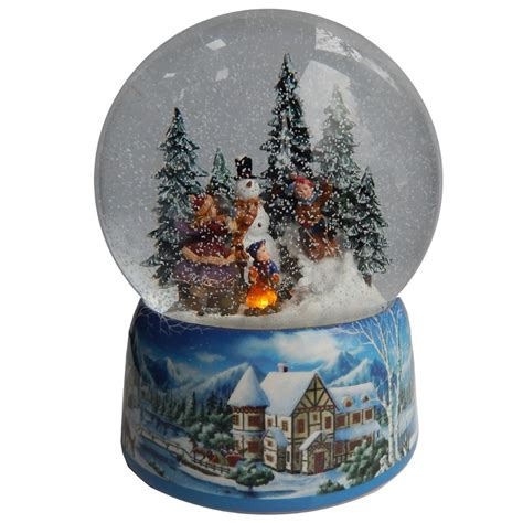 gifts kingdom large snowman festive snow globe
