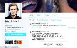pewdiepie phone number singers models and wags win most followers among daily mail