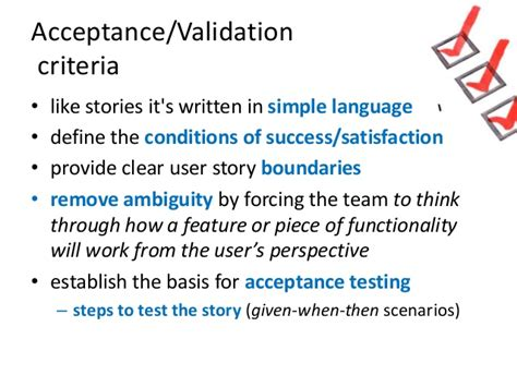 agile acceptance criteria template user stories in agile software development