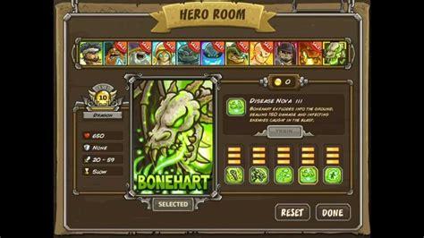 kingdom rush frontiers hacked heroes full version new awesome hero bonehart dragon kingdom rush