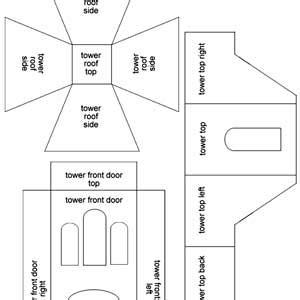 Gingerbread Haunted House Template by Haunted Dimensions The Cookie Phantom Manor