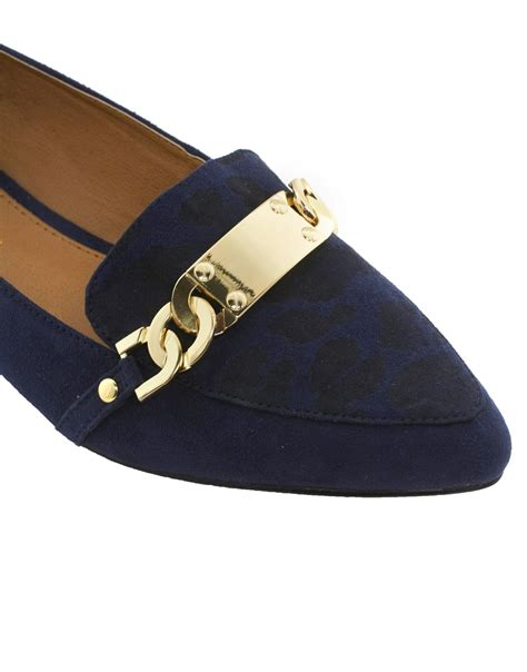 river island flat shoes aldo river island navy id tag point toe flat shoes in blue