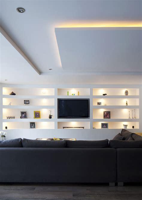 pareti illuminate parete attrezzata in cartongesso per il soggiorno info