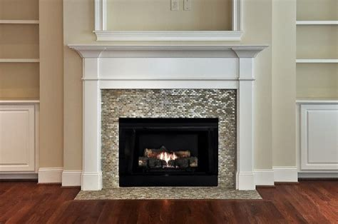 Glass Mosaic Fireplace Surround by Mirrored Fireplace Surround Design Ideas