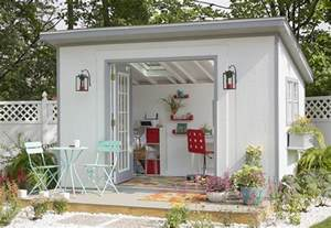 Superior House Plans With Double Front Doors #8: She-shed-office-outside.jpg