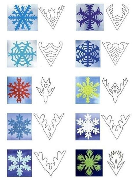 How To Make A Snowflakes Out Of Paper - best 25 snowflake template ideas on paper