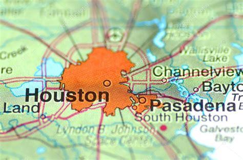 houston mapa estados unidos un primer plano de houston en los estados unidos en