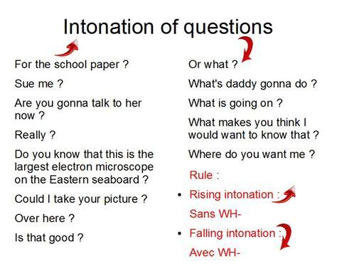 intonation pattern for questions afficher l image d origine