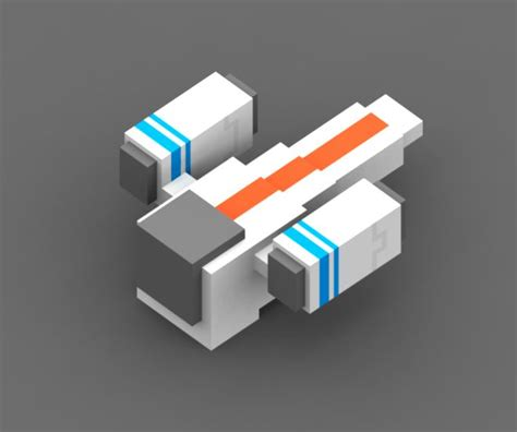 poly voxel spaceship  game escape  sector