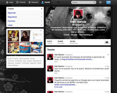 imagenes para perfil twitter c 243 mo poner el encabezado en el nuevo perfil de twitter