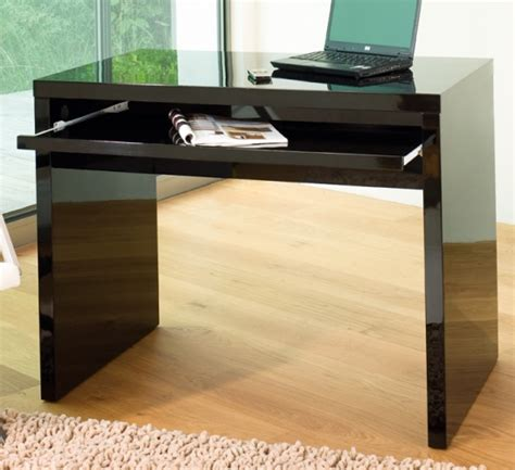 black gloss computer desk high gloss computer desk black office desks tables dwell