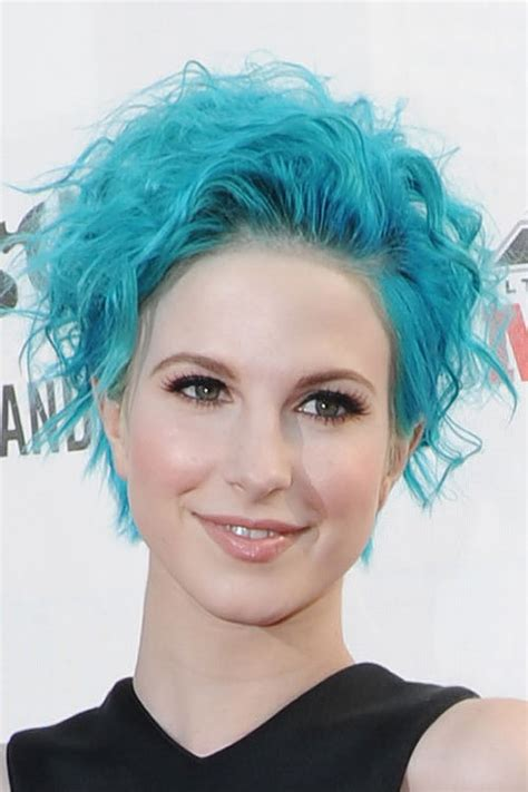 Hayley Williams Hairstyles by Hayley Williams Curly Blue Hairstyle Style