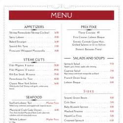 imenupro 183 menu design templates samples from menu software